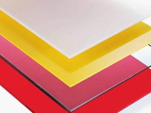 Frosted polycarbonate sheets comes in red, opal and yellow