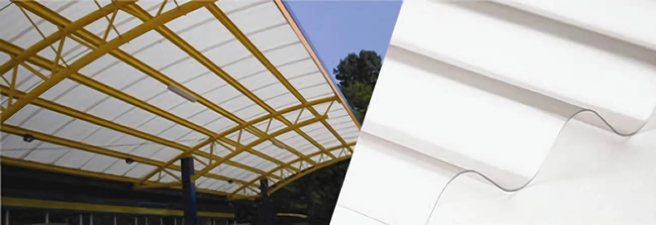 Opal corrugated polycarbonate sheets