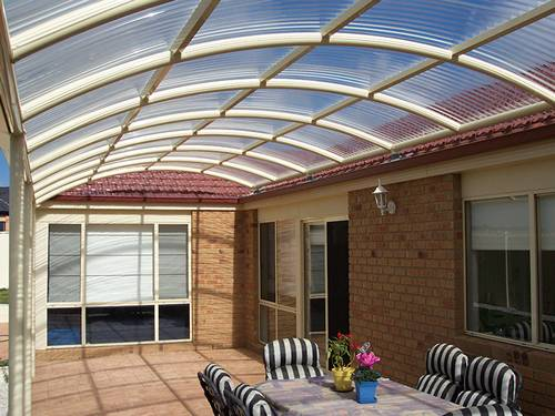 Clear polycarbonate roofing sheet in wave profile adds an view to your property